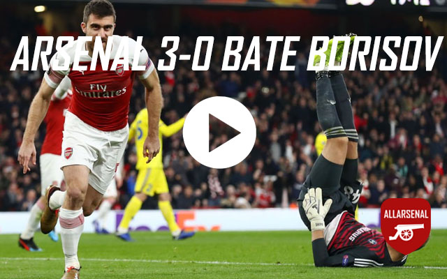 [Match Highlights] Arsenal v BATE Borisov – All The Goals And Best Bits