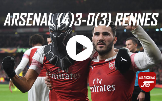 [Match Highlights] Arsenal 3-0 (4-3 agg) Stade Rennais – All The Goals And Best Bits
