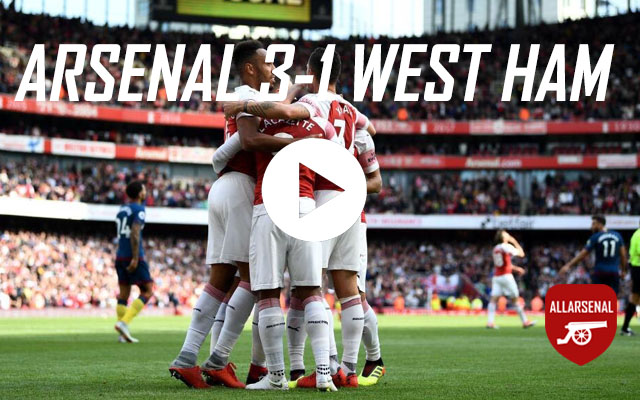 [Match Highlights] Arsenal 3-1 West Ham – All The Goals And Highlights