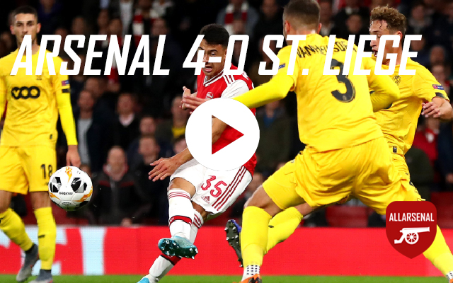 [Match Highlights] Arsenal 4-0 Standard Liege – All The Goals And Best Bits