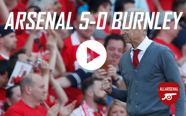 [Match Highlights] Arsenal 5-0 Burnley – All The Goals & Best Bits