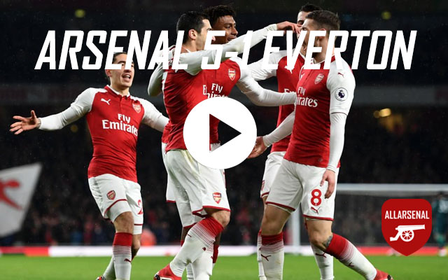 [Match Highlights] Arsenal 5-1 Everton – All The Goals & Best Bits