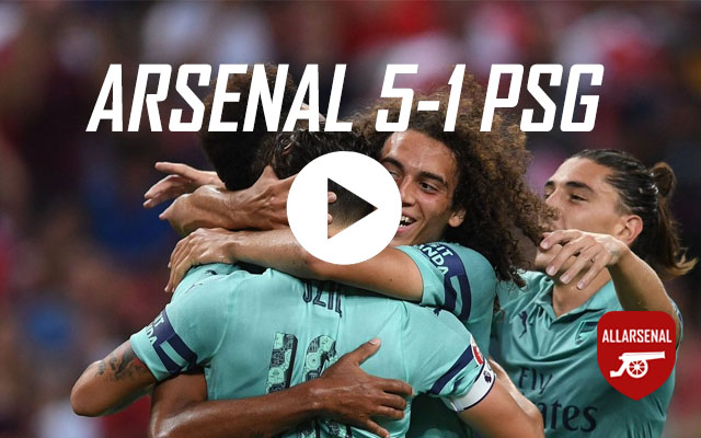 [Match Highlights] Arsenal 5-1 PSG – All The Goals & Best Bits