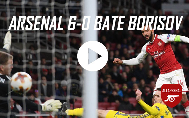 Arsenal 6-0 BATE Borisov – All The Goals And Best Bits
