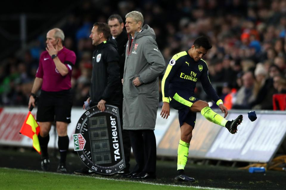 Alexis Sanchez Arsenal Disgruntled