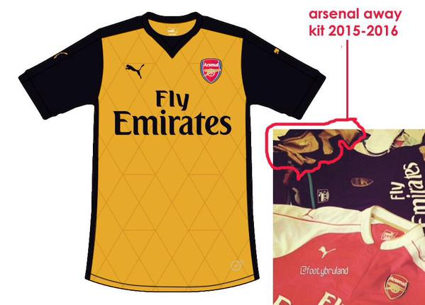 Arsenal 2015:16 away kit