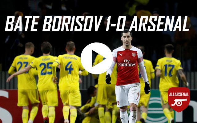 [Match Highlights] BATE Borisov 1-0 Arsenal – All The Highlights And Best Bits
