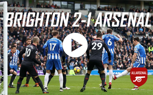 [Match Highlights] Brighton 2-1 Arsenal – All The Goals & Best Bits