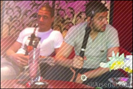 Arsenal News: Wenger furious as Chamakh snapped with Shisha pipe hours after loss