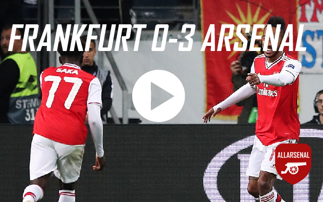 [Match Highlights] Frankfurt 0-3 Arsenal – All The Goals And Best Bits