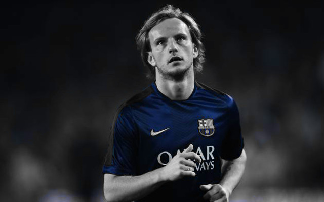 Barcelona star Ivan Rakitic pictured in Gunners shirt