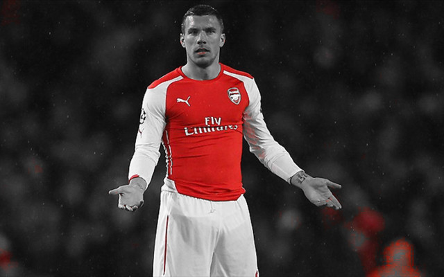 Podolski cements Arsenal legend status by fighting van Persie