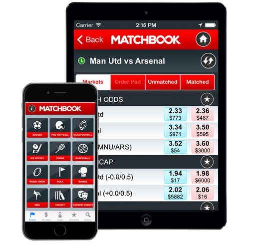 Matchbook mobile site