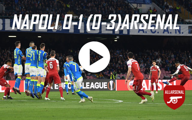 [Match Highlights] Napoli 0-1 Arsenal – All The Highlights And Best Bits