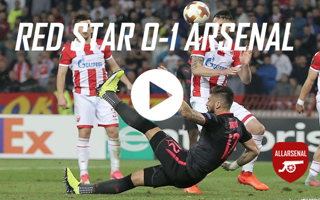 [Match Highlights] Red Star Belgrade 0-1 Arsenal – All The Goals And Highlights