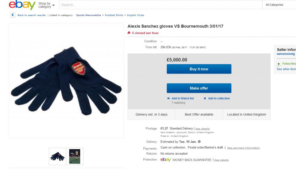 Sanchez gloves