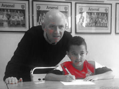 Arsenal sign Ashley Young's son