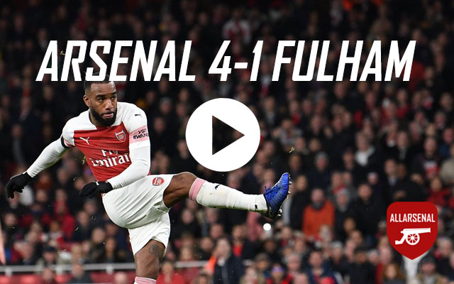 [Match Highlights] Arsenal 4-1 Fulham – All The Goals And Best Bits