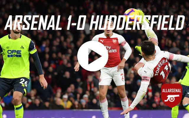 [Match Highlights] Arsenal 1-0 Huddersfield Town – All The Highlights & Best Bits