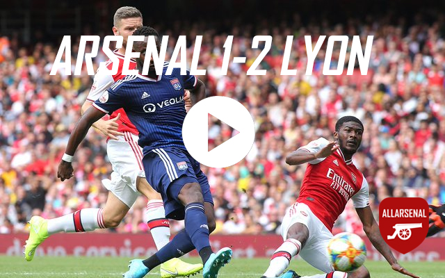 [Match Highlights] Arsenal 1-2 Lyon – All The Goals And Best Bits