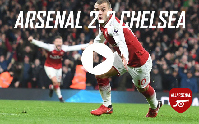 [Match Highlights] Arsenal 2-2 Chelsea – All The Goals & Best Bits