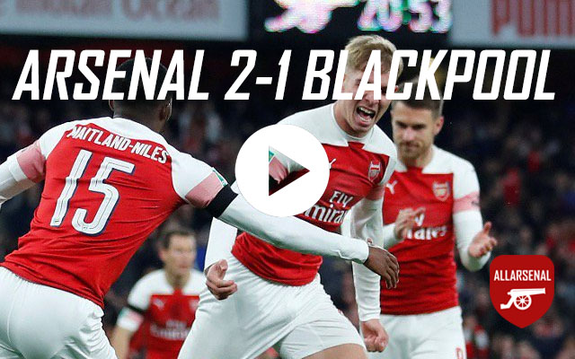 [Match Highlights] Arsenal 2-1 Blackpool – All The Goals And Best Bits