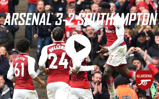 [Match Highlights] Arsenal 3-2 Southampton – All The Goals And Best Bits