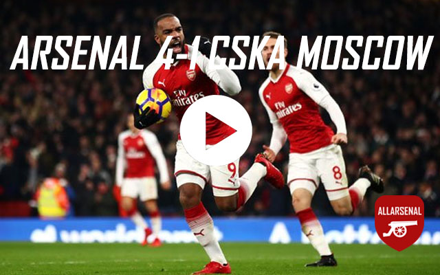 [Match Highlights] Arsenal 4-1 CSKA Moscow – All The Goals And Best Bits