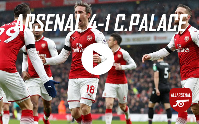 [Match Highlights] Arsenal 4-1 Crystal Palace – All The Goals And Best Bits