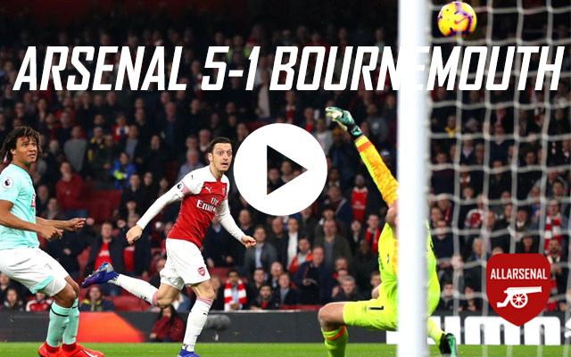 [Match Highlights] Arsenal 5-1 AFC Bournemouth – All The Goals And Best Bits