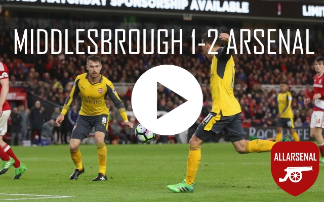 [Match Highlights] Middlesbrough 1-2 Arsenal – All The Goals And Best Bits