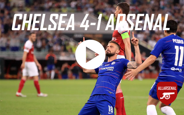 [Match Highlights] Chelsea 4-1 Arsenal – All The Europa League Final Highlights