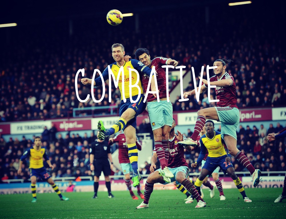 combative- west ham v arsenal