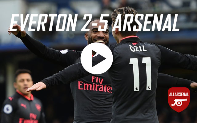 [Match Highlights] Everton 2-5 Arsenal – All The Goals And Best Bits