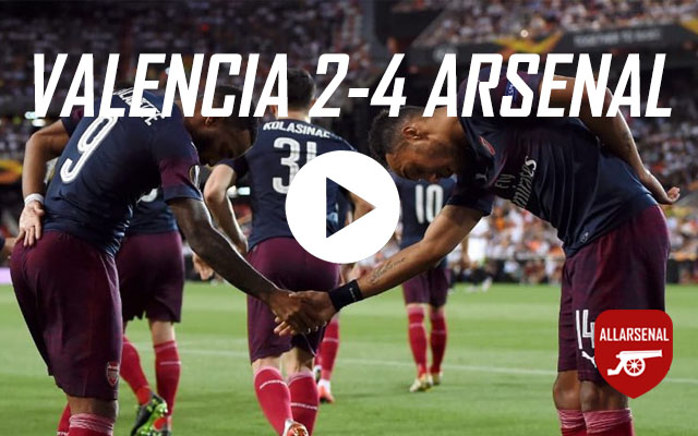 [Match Highlights] Valencia 2-4 Arsenal – All The Goals And Best Bits