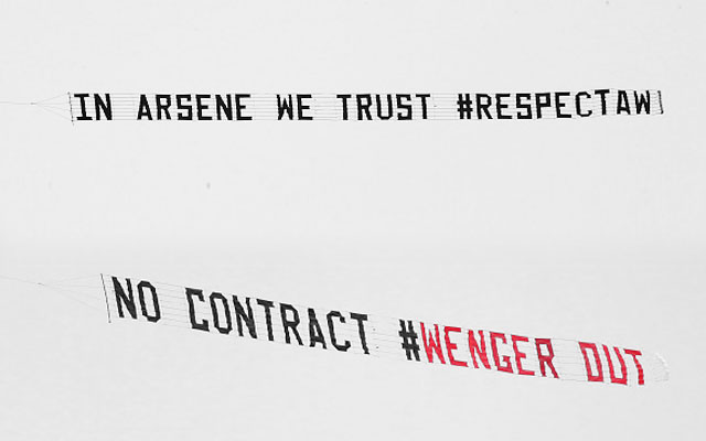 Revealed: The 'Company' Behind #RespectWenger Plane Banner