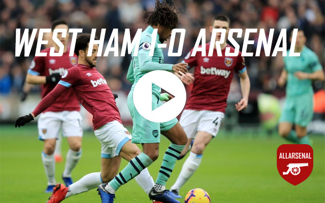 [Match Highlights] West Ham 1-0 Arsenal – All The Highlights And Best Bits
